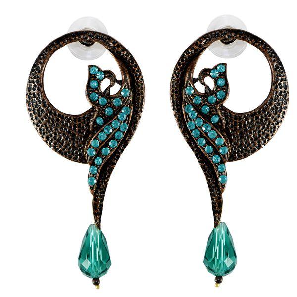 Beautiful Threader black Silver jewellery online visit - http://thefineworld.com/ #fashionjewellery #indianjewellery #jaipurjewellery #jewellery #earrings