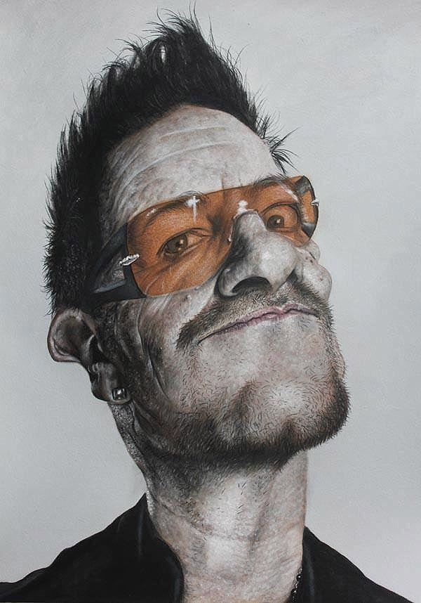 Caricatura de Bono  ~ Ʀεƥɪииεð вƴ╭•⊰✿ © Ʀσxʌиʌ Ƭʌиʌ ✿⊱•╮