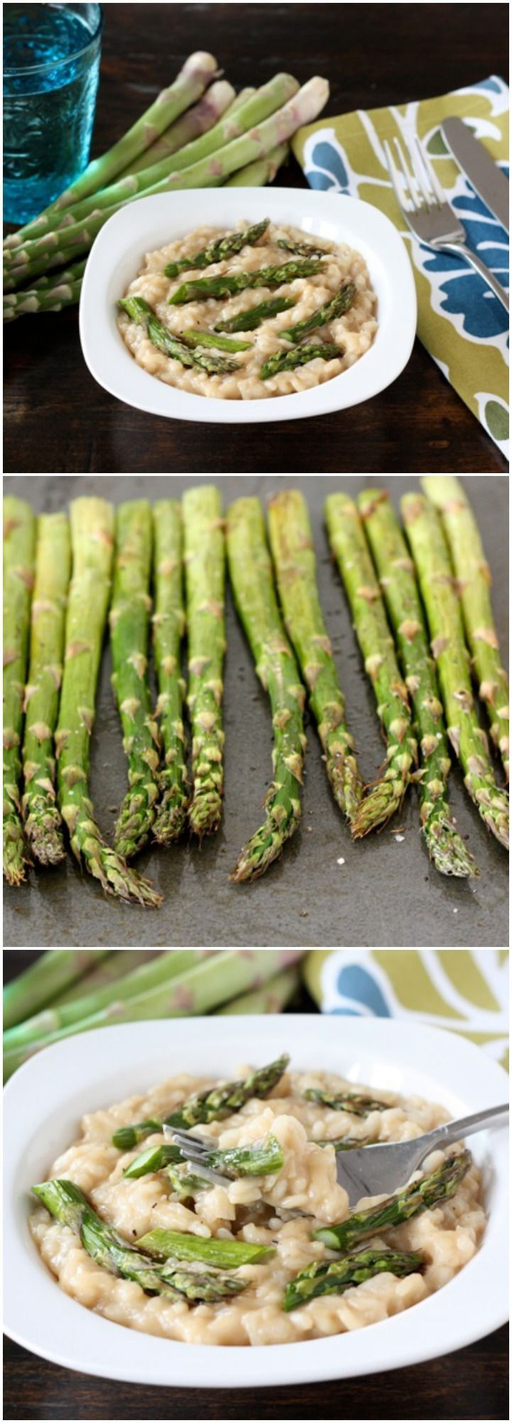 Roasted Asparagus Risotto Recipe on http://twopeasandtheirpod.com. The perfect risotto for spring!