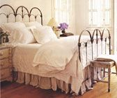 Castine iron headboard in Farmhouse Beige from American Iron Beds.com for Full