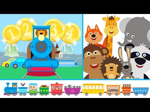Leer Tellen met de Leertrein / Kleuters, peuters en kinderen leren Nederlands en tellen - YouTube