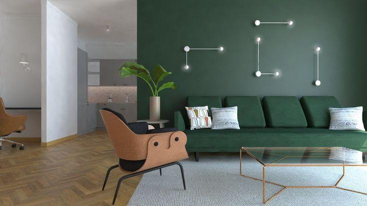 T3 Atelier - luksusowe meble domowe, projektowanie wnętrz - Mieszkanie w stylu Mid Century