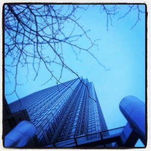 It's a long way up at One Canada Square
