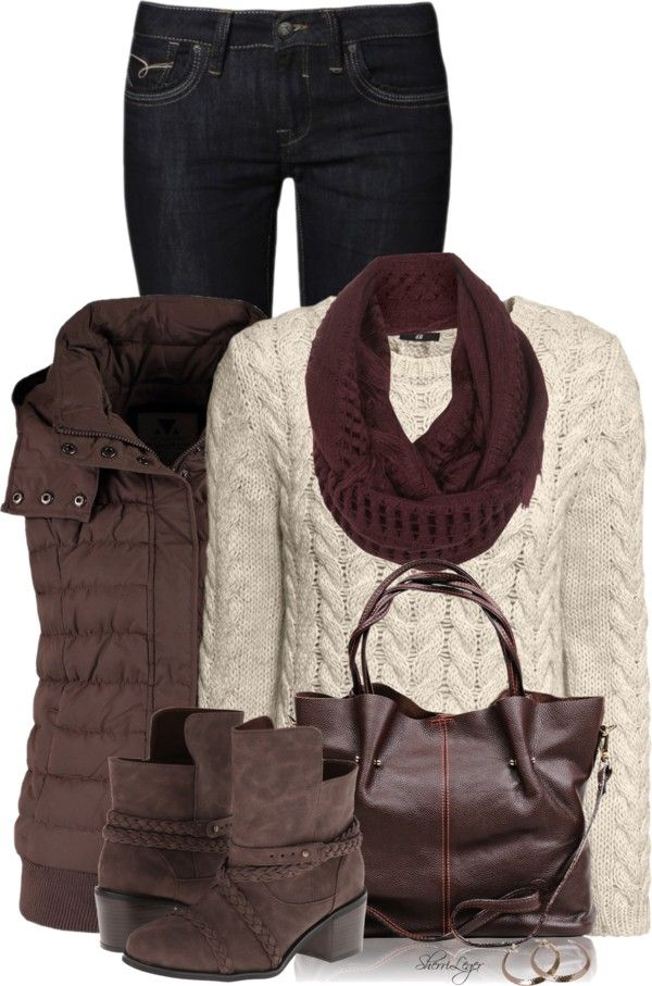 Simple fall winter outfit with waistcoat
