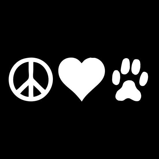 Peace Love Dogs Vinyl Car Window Decal