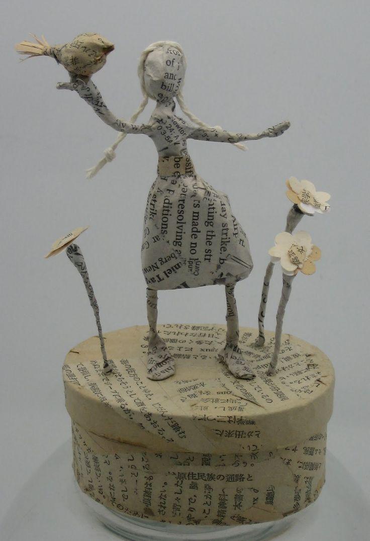 Paper mâché / wire sculptures