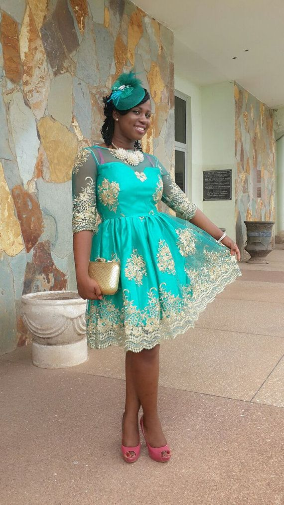 African Handmade Lace Cocktail Dress by hanibelvogues on Etsy