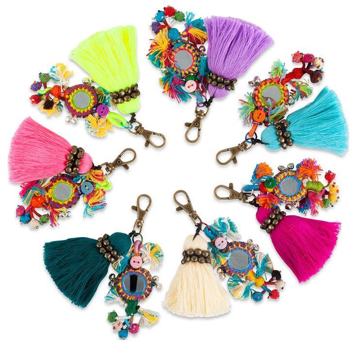 Boho Tassel Bag Charm. I want them all!