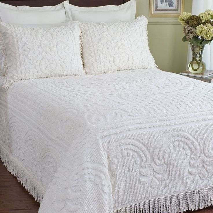 Soft to the touch chenille softness pinterest the o for Chenille bedspreads