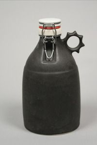 64 oz Hand slip-cast stoneware growler, Made in Portland OR | $64