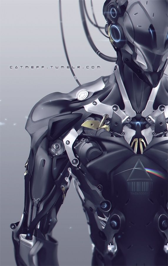 Cyborg, Future, Futuristic, Cyberpunk, Future Warrior, Armor, Military, Future Soldier, Futuristic Look, Mask, Helmet, Android, Droid, Robot, A hundred years by *cat-meff on deviantART by rogersan