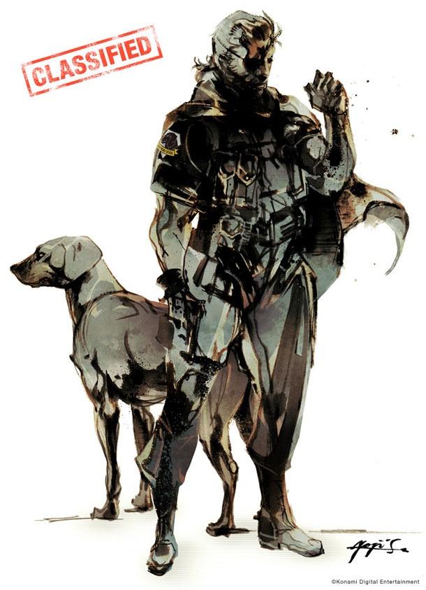 old Snake with a dog: Yoji Shinkawa, Dogs, Big Boss, Videos Games, Concept Art, Ground Zero, Metalgear, Metals Gears Solids, Snakes