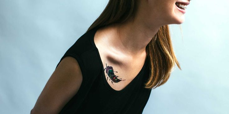 Feather Temporary Tattoo - Outliers.ro