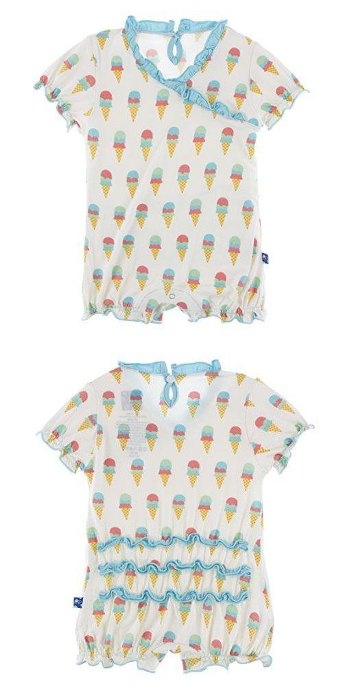 Kickie Pants Baby Rainbow Ruffle Romper 12-18m Baby & Toddler Clothing