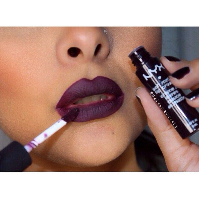 "nyx ""Transylvania"" soft matte lip cream is as dark as my soul and I love it"