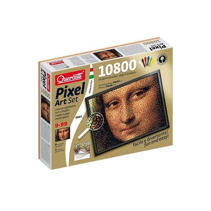 PIXEL Art Mona Lisa, kreatív pötyi játék 9 éves kortól - Quercetti