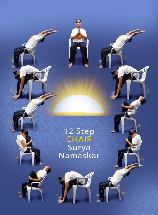 Sun Salutation Chair Yoga -- oooh, can't wait to practice this with my chair class.