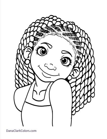 f african american coloring pages - photo #11