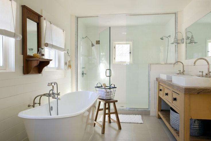 Salle de bain en blanc : style nautique