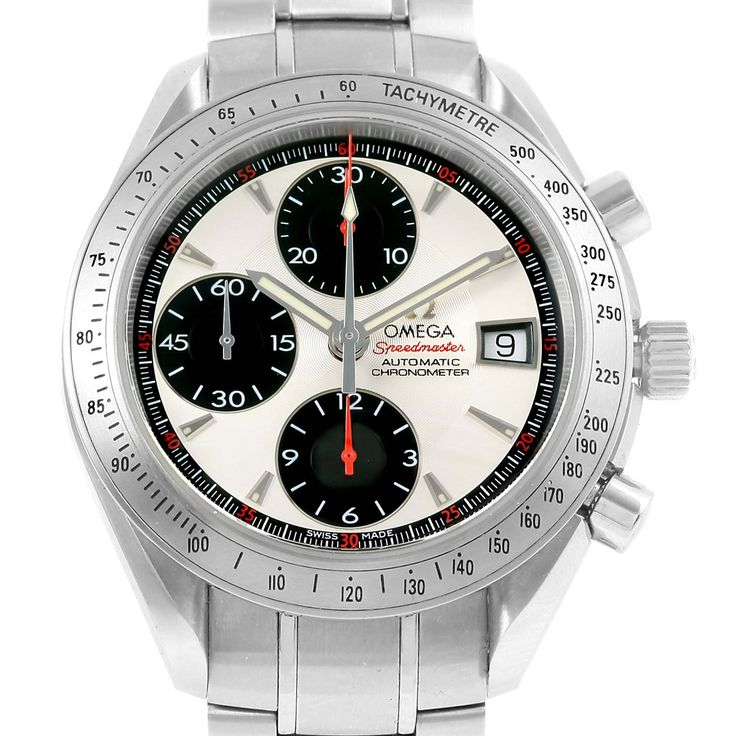 15220 Omega Speedmaster Day Date Panda Dial Mens Watch 3211.31.00 Box Papers SwissWatchExpo
