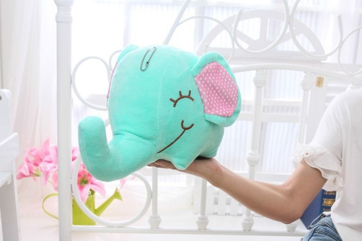 Мягкая игрушка мультфильм слон плюшевые игрушки, около 35 см, детские игрушки день рождения подарок Рождественский подарок d597