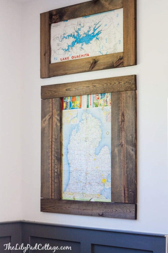 Playroom Changes - Map Wall Art - The Lilypad Cottage