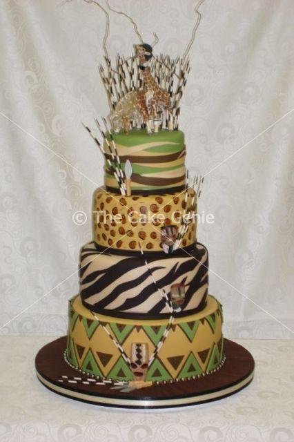 African-inspired cake by designer/artist Deon Swart of The Cake Genie
