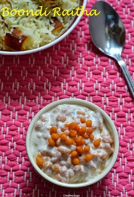 Boondi raitha recipe -  side dish for any rice variety