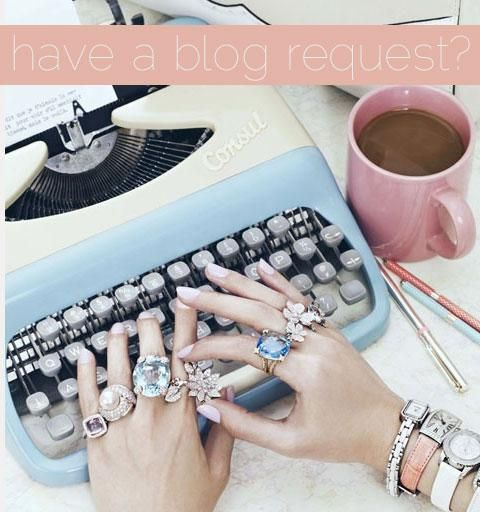 Have a Blog Request? Tell Me! {comment below or click the photo and leave a comment there}: Fashion, Cocktails Rings, Style, Offices, Vintage Typewriters, Mary Claire, Jewelry, Jewels, Accessories
