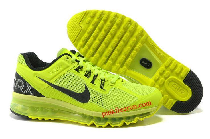 Volt Black Nike Air Max 2013 Men's Running Shoes