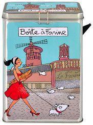 keladeco.com - Boite à #farine avec bec verseur, boite #alimentaire - DERRIÈRE LA PORTE