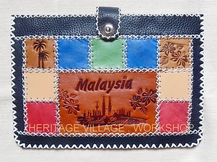 Kuala lumpur , Malaysia .Handmade leather case for Tablet computer  with Malaysia symbol .Кожаный сувенирный футляр  планшетного  компьютера  с символикой Малайзии . #souvenirs , #case  , #leathercraft , #handmade , #gift , #сувениры , #тиснение , #футляры , #malaysia , #малайзия , #kuala_lumpur
