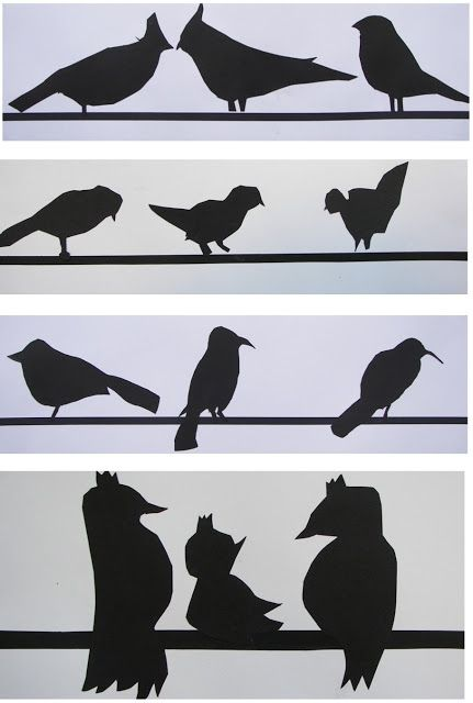 The Rolling Artroom: Bird Silhouettes, 1st-3rd Grade