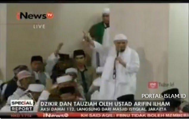Dihadapan Lautan Massa Aksi 112, Ustadz Arifin: Insya Allah Haqqul Yakin Jakarta Akan Hadir Pemimpin Yang Sholih