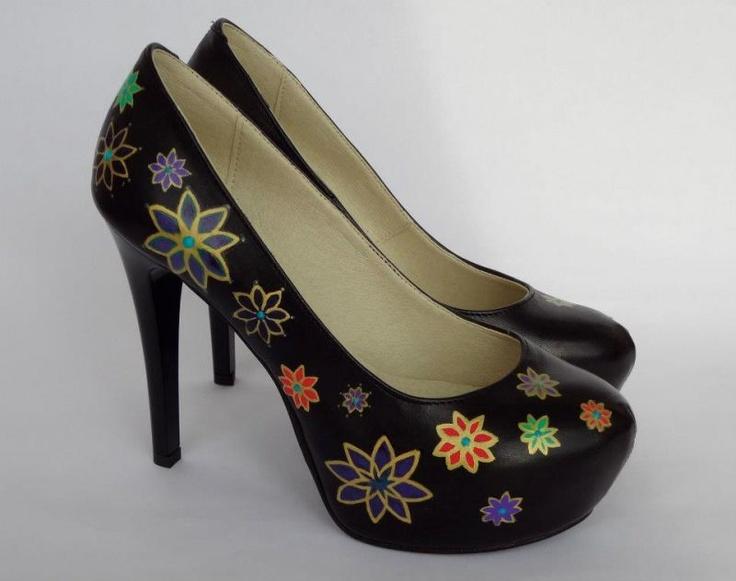 Pantofi pictati - peony | Crafty