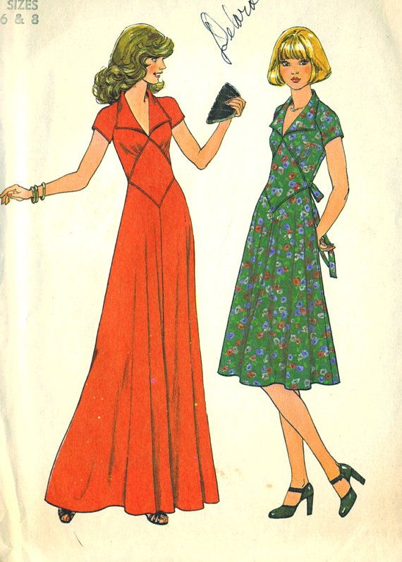 Vintage 70s Simplicity 7808 Misses Fitted Diamond by RomasMaison