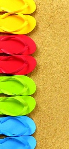 ❤ colorful flip flops.  A must have if you live in Hawaii *;)