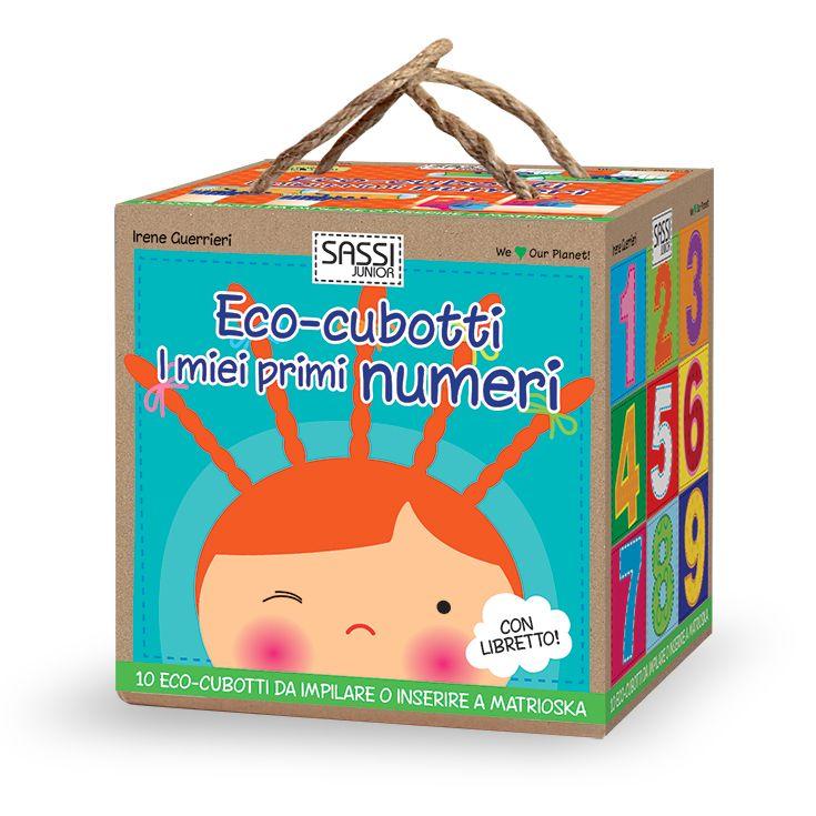 #Sassi Junior: Eco-cubotti - I Miei Primi Numeri - 10 cubotti + libretto di 10 pagine. #ecologia #libro #gioco