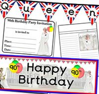 The Queen's 90th Birthday themed teaching resources, to help celebrate this special event.
