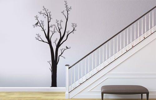 Silver birch tree vinyl wall art