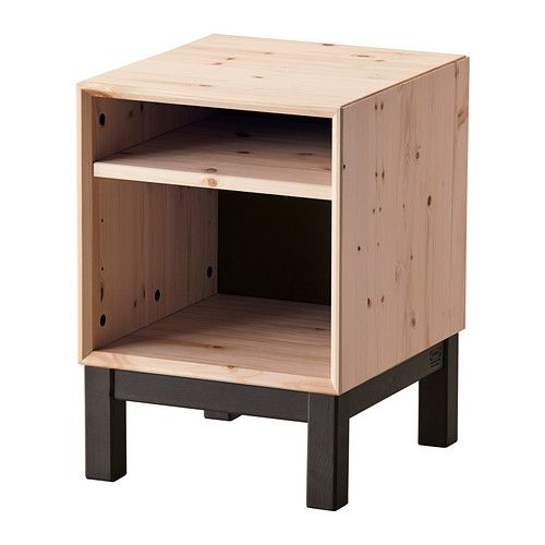 IKEA - NORNÄS, Nightstand, , Customize the space with the adjustable shelf.</t><t>Made of solid wood, which is a durable and warm natural material.</t><t>Optimise your storage with BRANÄS or DRÖNA boxes.