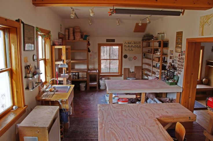 The art studio which faces the backyard. Lots of light!
