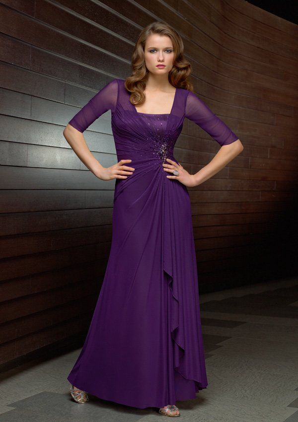 Purple Dresses for Evening Weddings