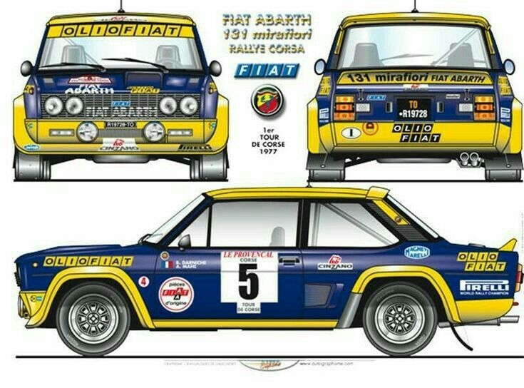 Fiat 131 Abarth Rally 1977 Auto Da Corsa Macchina Da Rally