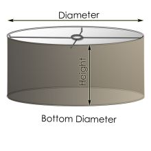 Source for extra large drum shade for dining room chandelier update:  Custom Drum Lamp Shades