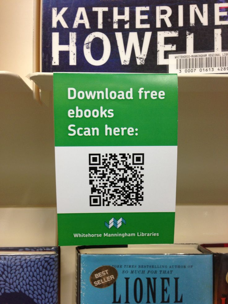 QR code marketing for library ebook collection Doncaster Library, Victoria