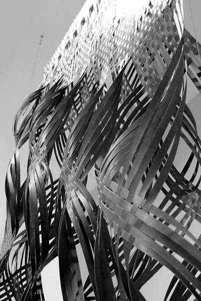 Sculptural Weaving - woven textile design inspiration; 3D fabric manipulation // David Serero & Elena Fernandez
