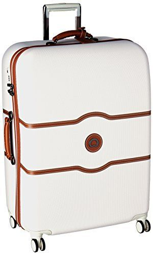 New Trending Luggage: Delsey Luggage Chatelet Hard  28 4 Wheel Spinner, Champagne. Delsey Luggage Chatelet Hard  28 4 Wheel Spinner, Champagne  Special Offer: $202.99  477 Reviews Elegant and innovative, highly resiliant, unique brake system.A distillation of elegance and innovation, with clean curves and soft leather trimsMade from Bayer 100% Virgin Makrolon...