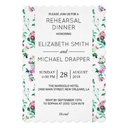 #Rehearsal Dinner - Roses Moth Orchids - Green Card - rehearsal dinner invitations #rehearsal #dinner #invitations #weddinginvitations #wedding #invitations #party #card #cards #invitation #rehearsaldinner