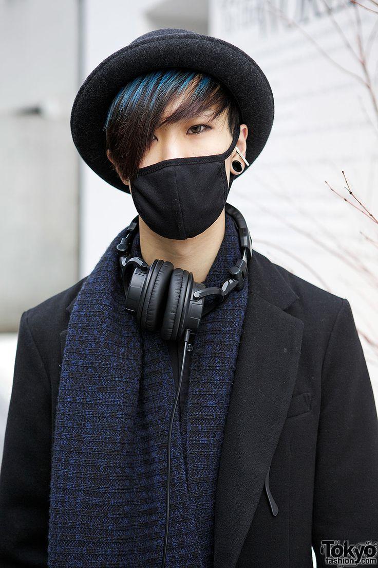 20-year-old Harajuku guy Jackie with blue streaked... | Tokyo Fashion
